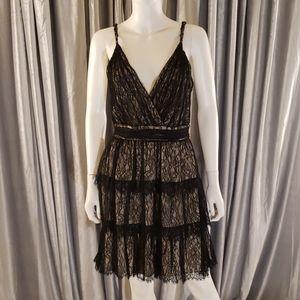 Alice + Olivia 156882 Black Olive Lace Dress
